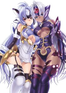 Rating: Questionable Score: 91 Tags: dairiseki erect_nipples hakaba kos-mos stockings t-elos thighhighs underboob xenosaga User: torn