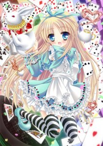 Rating: Safe Score: 21 Tags: alice alice_in_wonderland dress mizuki_yuuma thighhighs User: ddns001