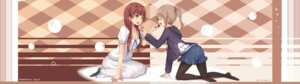 Rating: Safe Score: 43 Tags: cleavage dress pantyhose tsuchikure_(3105mitoko) valentine yuri User: Mr_GT