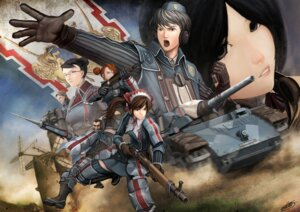 Rating: Safe Score: 8 Tags: alicia_melchiott brigitte_stark eleanor_varrot faldio_landzaat isara_gunther largo_potter okita uniform valkyria_chronicles welkin_gunther User: Radioactive