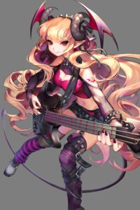 Rating: Safe Score: 21 Tags: cleavage fishnets guitar horns pointy_ears soccer_spirits stockings tattoo thighhighs transparent_png wings User: Sunimo