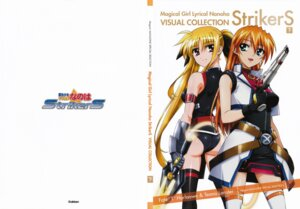 Rating: Safe Score: 8 Tags: ass fate_testarossa gun mahou_shoujo_lyrical_nanoha mahou_shoujo_lyrical_nanoha_strikers okuda_yasuhiro teana_lanster thighhighs User: daemonaf2