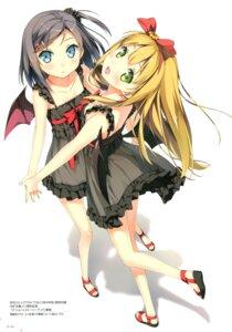 Rating: Questionable Score: 116 Tags: azuki_azusa dress hentai_ouji_to_warawanai_neko kantoku nopan see_through tsutsukakushi_tsukiko wings User: Twinsenzw