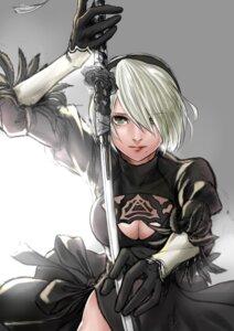 Rating: Safe Score: 11 Tags: cleavage dress kilye nier_automata sword yorha_no.2_type_b User: mash