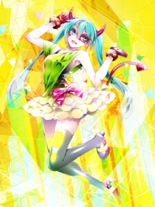 Rating: Safe Score: 18 Tags: 1055 hatsune_miku heels horns tail thighhighs vocaloid User: charunetra