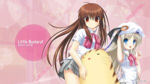 Rating: Safe Score: 19 Tags: key little_busters! na-ga natsume_rin noumi_kudryavka seifuku wallpaper User: girlcelly