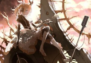 Rating: Safe Score: 35 Tags: guitar heels kagamine_rin lolita_fashion nine vocaloid User: zero|fade