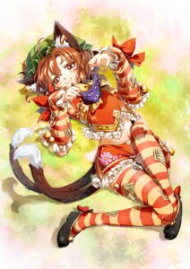 Rating: Safe Score: 18 Tags: animal_ears chen ikeda_p-rou tail thighhighs touhou User: Mr_GT