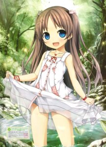 Rating: Questionable Score: 102 Tags: cura dress loli lose monobeno sawai_natsuha see_through skirt_lift summer_dress wet User: fireattack