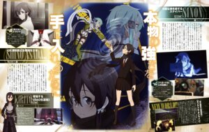 Rating: Safe Score: 10 Tags: adachi_shingo blood gun gun_gale_online kirito shino_asada sinon sword_art_online User: drop