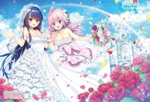 Rating: Questionable Score: 33 Tags: cleavage dress suzushiro_atsushi tagme wedding_dress User: Twinsenzw