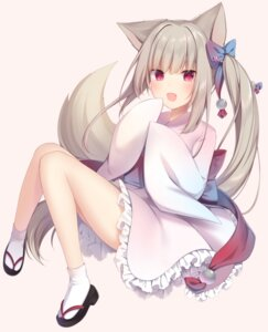Rating: Safe Score: 66 Tags: amashiro_natsuki animal_ears japanese_clothes kitsune tail User: BattlequeenYume
