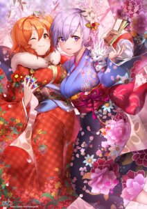 Rating: Safe Score: 41 Tags: fate/grand_order fou_(fate/grand_order) kimono kyjsogom mash_kyrielight User: RyuZU