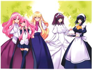 Rating: Safe Score: 28 Tags: cattleya_(zero_no_tsukaima) dress elenor henrietta louise maid megane seifuku siesta thighhighs usatsuka_eiji zero_no_tsukaima User: Radioactive