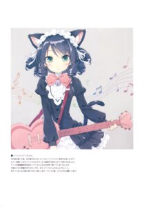 Rating: Questionable Score: 46 Tags: animal_ears cyan_(show_by_rock!!) dress guitar luminocity nekomimi peco show_by_rock!! tail User: Twinsenzw