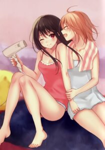 Rating: Safe Score: 88 Tags: cleavage feet fukahire_sanba ruinon towel User: donicila