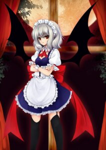Rating: Safe Score: 20 Tags: cosplay maid remilia_scarlet stockings thighhighs touhou utakata wings User: fairyren