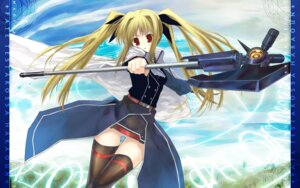 Rating: Safe Score: 6 Tags: fate_testarossa kagutsuchi mahou_shoujo_lyrical_nanoha thighhighs wallpaper User: Radioactive
