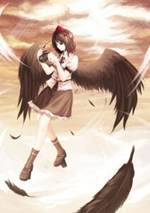 Rating: Safe Score: 8 Tags: iyokamioto shameimaru_aya touhou wings User: konstargirl