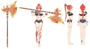 Rating: Safe Score: 23 Tags: bandages bikini character_design cleavage horns pointy_ears sketch swimsuits tagme tattoo underboob weapon User: NotRadioactiveHonest