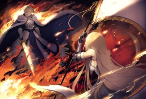 Rating: Safe Score: 32 Tags: armor fate/grand_order iiiroha jeanne_d'arc jeanne_d'arc_(fate) saber sword User: Dreista