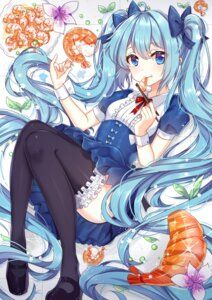 Rating: Safe Score: 74 Tags: dress garter ge_ji_ge_ji_er hatsune_miku thighhighs vocaloid User: Mr_GT