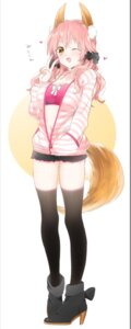 Rating: Safe Score: 41 Tags: animal_ears caster_(fate/extra) cleavage fate/extra fate/stay_night heels open_shirt sino_(sionori) tail thighhighs User: Mr_GT