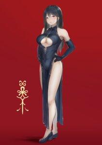Rating: Safe Score: 55 Tags: chinadress hayabusa heels no_bra nopan underboob User: mash
