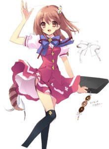 Rating: Safe Score: 27 Tags: flyable_heart inaba_yui ito_noizi seifuku sketch thighhighs User: fireattack