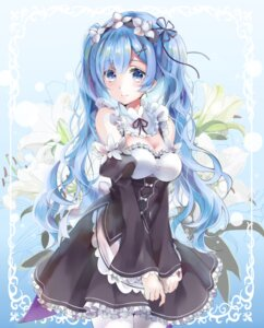 Rating: Safe Score: 96 Tags: cleavage hatsune_miku maid re_zero_kara_hajimeru_isekai_seikatsu rem_(re_zero) vocaloid yache User: Mr_GT