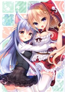 Rating: Safe Score: 24 Tags: animal_ears cleavage little_red_riding_hood_(character) nae-nae rokudou_itsuki tail thighhighs User: kiyoe