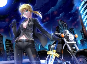 Rating: Safe Score: 12 Tags: cleavage fate/stay_night fate/zero no_bra saber sword windtalker User: omegakung