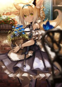 Rating: Safe Score: 44 Tags: animal_ears arknights kitsune knoy3356 suzuran_(arknights) tail User: Mr_GT
