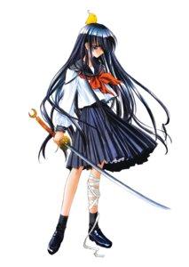 Rating: Safe Score: 10 Tags: azuma_hazuki carnelian seifuku sword yami_to_boushi_to_hon_no_tabibito User: skyswordy