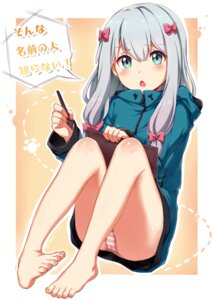 Rating: Questionable Score: 43 Tags: cameltoe eromanga-sensei feet izumi_sagiri miaozi-san pantsu shimapan User: Mr_GT
