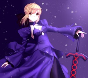 Rating: Questionable Score: 34 Tags: cleavage dress fate/stay_night saber saber_alter sword unscpro User: mash
