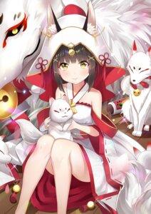 Rating: Safe Score: 56 Tags: animal_ears azur_lane japanese_clothes kitsune nagato_(azur_lane) zotari User: Nepcoheart