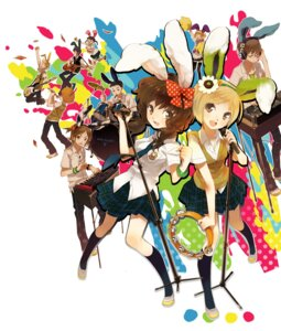 Rating: Safe Score: 11 Tags: animal_ears bunny_ears guitar komagarita seifuku User: Radioactive