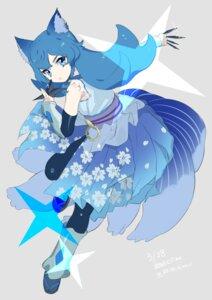 Rating: Safe Score: 24 Tags: animal_ears japanese_clothes mameojitan pretty_cure samidare_(precure) weapon User: nphuongsun93