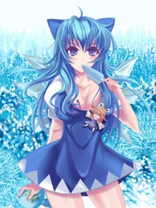 Rating: Safe Score: 30 Tags: cirno cleavage marionette_(excle) moriya_suwako touhou User: hobbito