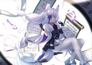Rating: Safe Score: 31 Tags: animal_ears azur_lane eyepatch f_(milfaaaaa) japanese_clothes kasumi_(azur_lane) pantyhose tail User: BattlequeenYume