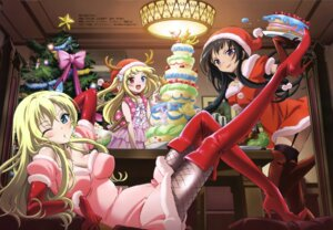 Rating: Questionable Score: 67 Tags: boku_wa_tomodachi_ga_sukunai christmas dress fishnets hasegawa_kobato heterochromia hibi_chieko ishii_kumi kashiwazaki_sena mikazuki_yozora stockings thighhighs User: PPV10