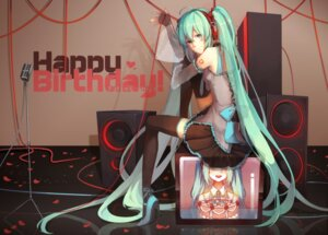 Rating: Safe Score: 50 Tags: hatsune_miku headphones heels ovos tattoo thighhighs vocaloid User: Mr_GT