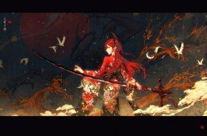 Rating: Safe Score: 26 Tags: arknights horns kimono shouyehong surtr_(arknights) weapon User: Uzimaki