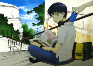 Rating: Safe Score: 16 Tags: hayashi_akemi headphones ikari_shinji male neon_genesis_evangelion User: Share