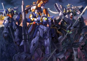 Rating: Safe Score: 22 Tags: gun gundam gundam_deathscythe gundam_sandrock gundam_wing mecha sword wing_gundam User: Radioactive