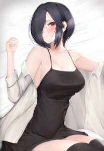 Rating: Questionable Score: 37 Tags: cleavage dress kirishima_touka mo_(artist) no_bra thighhighs tokyo_ghoul User: Dreista