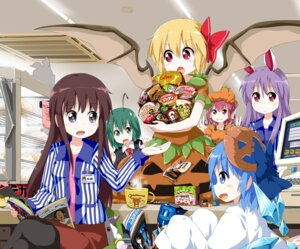 Rating: Safe Score: 12 Tags: animal_ears bunny_ears cirno flandre_scarlet kyubey pantyhose puella_magi_madoka_magica reisen_udongein_inaba touhou tsurukou wings wriggle_nightbug User: 椎名深夏