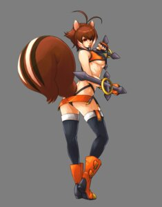 Rating: Safe Score: 58 Tags: animal_ears arc_system_works ass blazblue blazblue:_continuum_shift katou_yuuki makoto_nanaya tail thighhighs thong underboob User: Radioactive