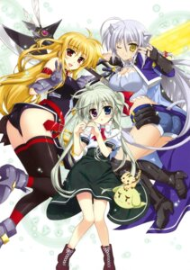 Rating: Questionable Score: 34 Tags: crossover dog_days einhart_stratos fate_testarossa fujima_takuya heterochromia leonmitchelli_galette_des_rois mahou_shoujo_lyrical_nanoha mahou_shoujo_lyrical_nanoha_vivid thighhighs User: crim